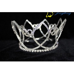 clear stone customed design pageant crown