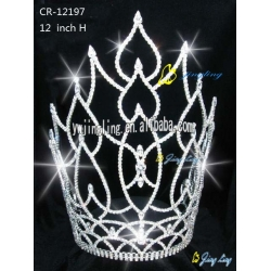 large leaf tiara hot sale cheap pageant crown