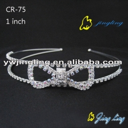 hollow bow crystal pageant crown