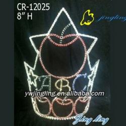 apple ABC school crown rhinestone school pageant crown