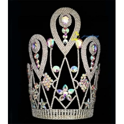 12 Inch AB Stone Pagaent Else Crown For New Year