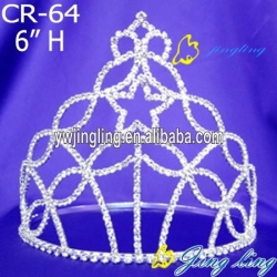 clear star rhinestone crown crystal tiara