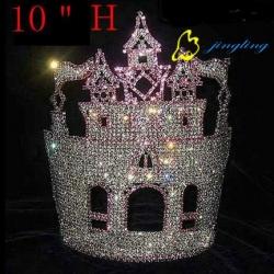 wholesale castle large size big pageant crowns