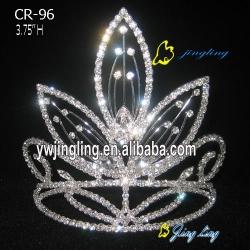 newest leaf rhinestone Pageant Crown