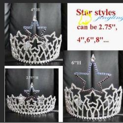 rhinestone star tiaras crowns