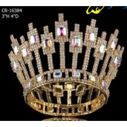 Gold Silver Plated AB Full Round Crown