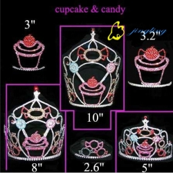 cupcake and candy party crown pageant cupcake tiara