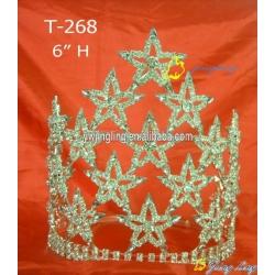 Patriotic 8 Inch Big Size Pageant Crown