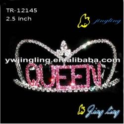 Pageant Crown Queen Letter Shape