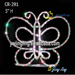 rhinestone butterfly crown