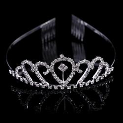 2016 Fashion Bridal Tiaras Wholesale Silver Wedding Tiaras