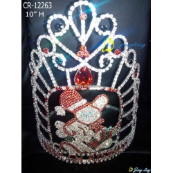 candy bear tiara big pageant christmas crowns