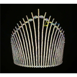 2017 Handmade AB Rhinestone Tiara Colored Pageants King Crown For Party