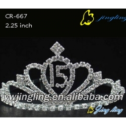 Number design pageant crowns for 15 or 16 youth