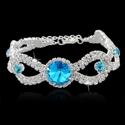 Austrian Crystal Bracelets For Women Wedding Silver and gold Chain Bracelets