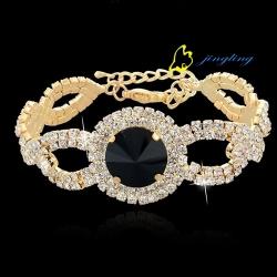 2015 New Fashion Crystal Bracelet Wedding Bracelet Jewelry Silver Chain Rhinestone Bangle Bracelets