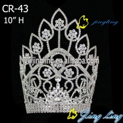 large special rhinestone pageant crown CR-29