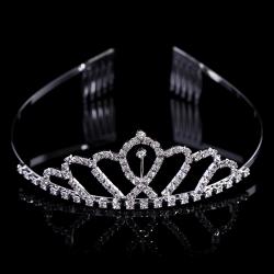 2016 New wedding jewelry silver wholesale princess tiaras