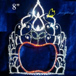 rhinestone school apple pageant tiara
