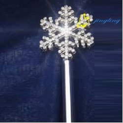 snow flower pageant crown scepter