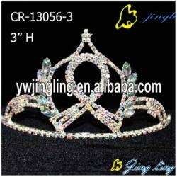 Ribbon Crown AB Stone