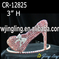 red rhinestone shoes pageant crown