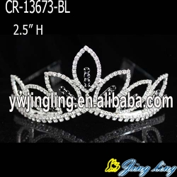 Wholesale black  rhinestone cheap wedding pageant crowns