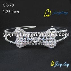 charm rhinestone bridal tiara