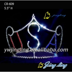 Patriotic Crown Letter shape