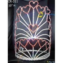Crown honey heart shape