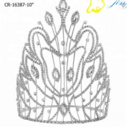 8 Inch Tall King Pageant Rhinestone Crown