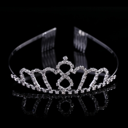 2016 New Product Silver Small Pageant Crowns Tiaras