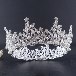 2017 Beauty Crown With Pearls For Girl