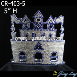 Blue rhineston castle crown