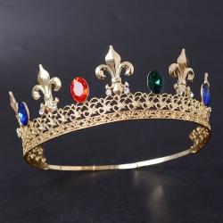 Gold Metal flower-de-luce tiara Flowe Tiara And Crowns