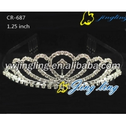 heart shape crown pageant crown tiara CR-687