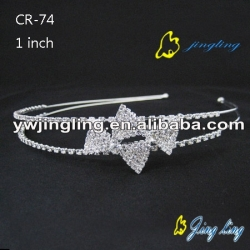 Pageant Crown Bow shape crystal