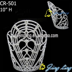 larger rhinestone pageant crowns