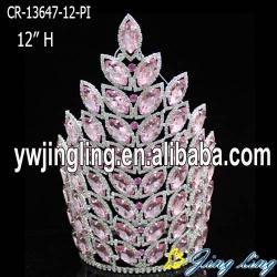 pink big  pageant crown