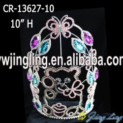 Lovely candy bear butterfly pageant crown for kids