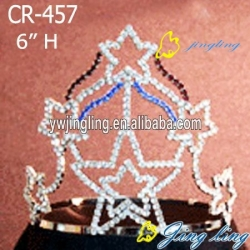 Patriotic Crown large star shape pageant crowns