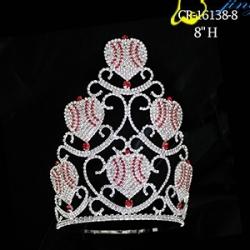 Custom Beauty Peach Heart Valentine Day Crown