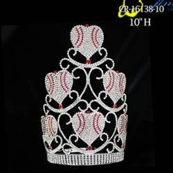 Wholesale Rhinestone Crystal Heart Crown Valentine Day Gift