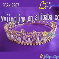 Full Round Pageant Crowns Pearl
