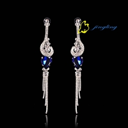 Tissany Jewelry Vintage Crystal Stud Earrings Retro Earring For Woman New 2015 Gift