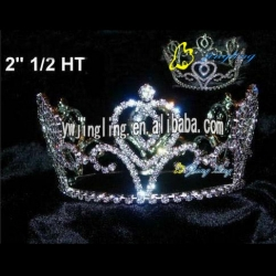 rhinestone and heart tiara pageant crowns