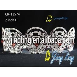 Pageant Crown Purple Crystal Crown