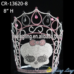 Skull pageant crown foe halloween