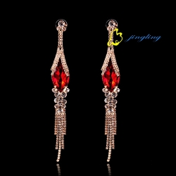 Hot Sale New Design Fashion Clear Stone Drop Earrings for Ladies