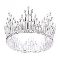 Crystal Bride Tiara Crown Fashion Wedding Tiaras Headpiece Hair Jewelry Accessories Wholesale